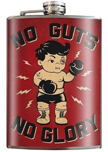 No Guts, No Glory Boxing Flask Gift