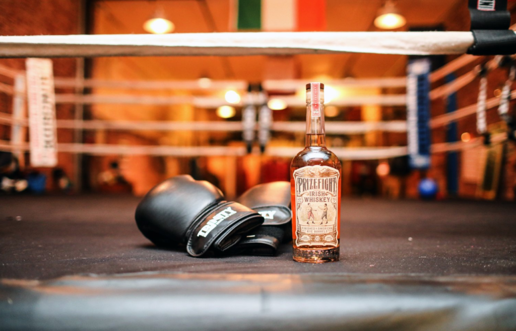 Prizefight Irish Whiskey With Boxing Gloves