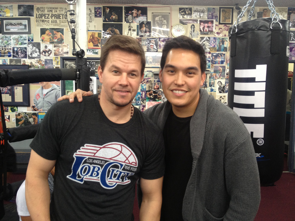 Mark Wahlberg at Wild Card Boxing Gym